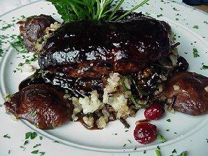 Altezzo Chef James P. Barbara's roast duck.
